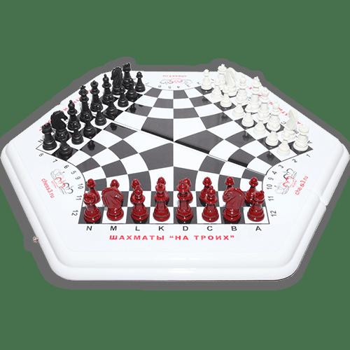Шашки, шахматы и нарды на 3 игрока