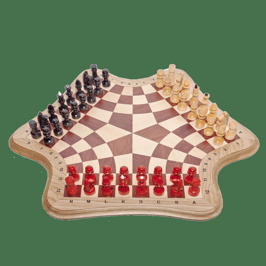 Шахматы подарочные для троих игроков
