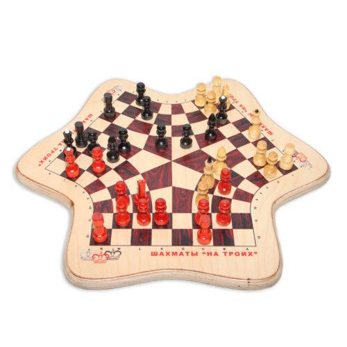 Игра в шахматы втроем - середина партии