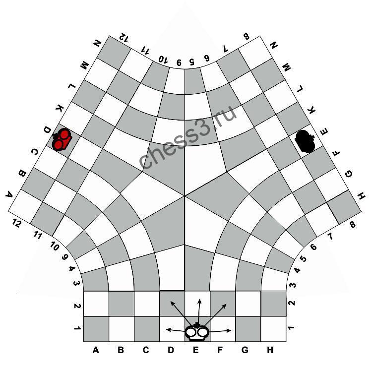 Правила по которым ходит король в шахматах на троих