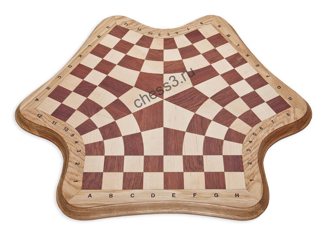 Доска для игры в шахматы втроем